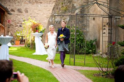 Hochzeitseinzug Silke & Ines